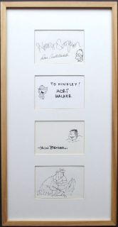 Signed Display Homer Simpson Beetle Bailey Alley Bill Melendez