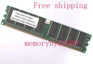 2x1GB PC3200 2x1GB DDR400 Desktop Memory DIMM 184pin Memory RAM