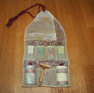 Tawn Travel Kit Mens Shaving Kit Folding Case Vintage