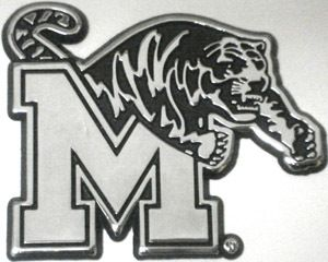 University of Memphis Tigers Car Emblem Metal