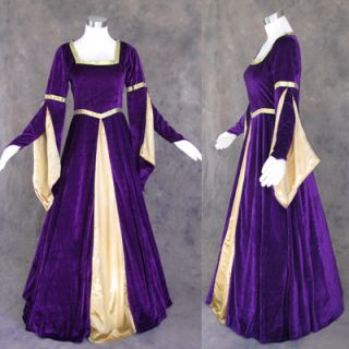 Medieval Renaissance Gown Dress Costume LOTR Wedding L