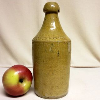 Antique Stoneware 1800s Rice McKinneys Mead Bottle Philadelphia RARE