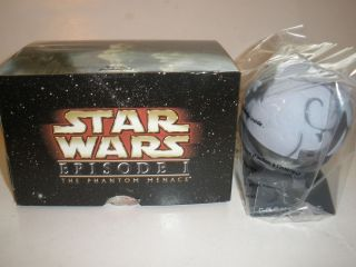 RARE CORUSCANT STAR WARS EPISODE 1 CITY PLANET GRAY PLASTIC TOY ACTION