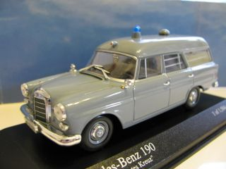 43 Minichamps Mercedes Benz 190 Ambulance 1961