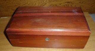Small Cedar Chest Trinket Jewelry Box w Key Menlo Park Calif