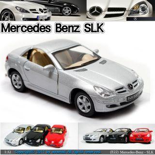 Mercedes Benz SLK 1 32 5 Silver Diecast Mini Cars Toys Kinsmart