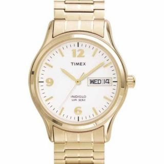 Timex Mens Classic Gold Tone Expansion Band Stainless Steel Bracelet