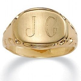 Mens Womens 14k Gold Plated Personalized Initial Ring Size 5 6 7 8 9