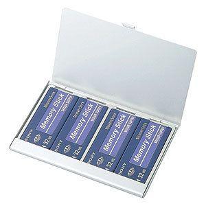 Sanwa Supply Aluminum Memory Stick MS Memory Case