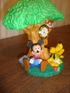 Disney Mickey Pluto Mantle Clock by Seiko Measures 6 1 2 Tall x 6