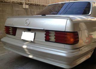 Mercedes Benz W126 Rare AMG Rear Trunk Spoiler USA 380 420 500 560 SE