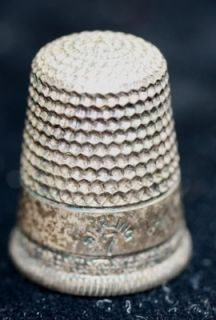 Antique Sterling Silver Thimble Waite Thresher Co