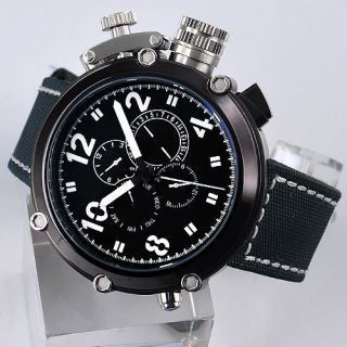 50mm Parnis PVD Big Face Black Dial Automatic Mens Watch A062