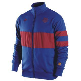 RARE Nike Barcelona Spain Soccer Track sweat Jersey Shirt Jacket Mens