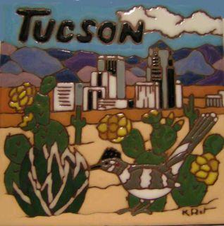 Tucson Arizona 6x6 Earthtones Memory Ceramic Tile