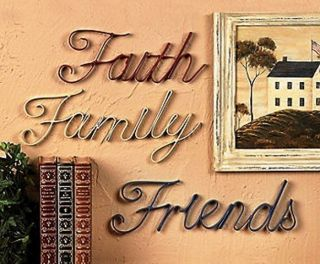 Family Friends Wall Decor Red White and Blue Metal Art New