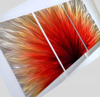 Original wall decor sculpture new METAL art red painting modern
