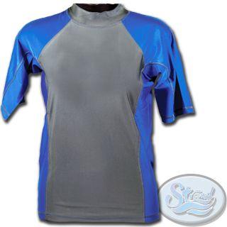 Mens Rash Guard New UV Swim Surf Shirt XSRGL   Small SPF 50 Swimwear