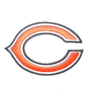 Chicago Bears 3 C Embroidered Iron on Patch NFL Team Logo Shield