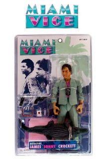 Mezco Miami Vice James Sonny Crocket Action Figure Grey Suit New