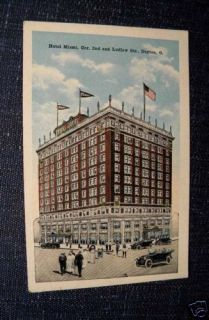 Hotel Miami 2nd Ludlow Dayton Ohio Postcard 1920s