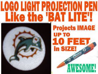 Miami Dolphins Logo Light Projection Pen NFL Really Cool Item