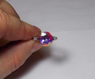 Sterling Silver Stylish Designer Mercury Topaz Ring Sz 8 Incredible