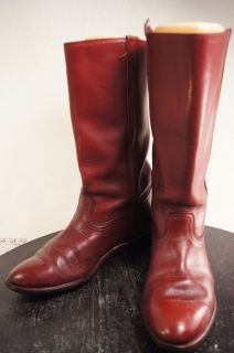 Leather Riding Tall 8 5 D Mens 10 w Womens Vintage Riding Boots