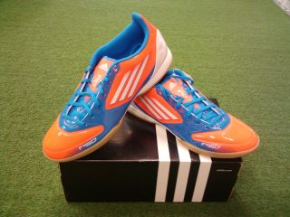 Adidas F10 in Indoor Sala Soccer Shoes Infrared Bright Blue New
