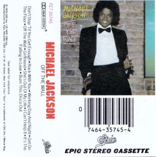 Off the Wall   Michael Jackson (Cassette 1979, Epic) in NM