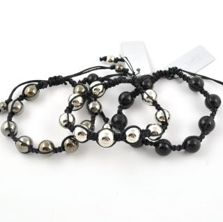 Mens Boys Shamballa Bead Style Friendship Bracelet Adjustable