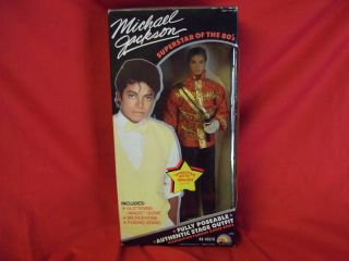 VINTAGE 1984 12 MICHAEL JACKSON DOLL IN AMERICAN MUSIC AWARDS OUTFIT