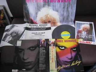 Michael Monroe Nights Are So Long Japan Promo Vinyl LP w OBI Poster