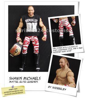 WWE custom Shawn Michaels HBK mattel elite legends classic DX by
