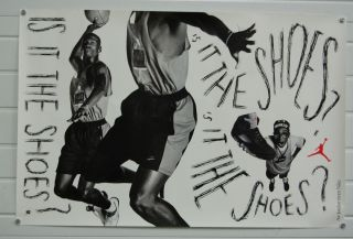 Michael Jordan Air Jordan Nike Spike Lee 24x36 Poster RARE