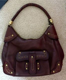 Michael Kors Brown PEBBLED Leather Hobo Bag Handbag Shoulder Orig $598