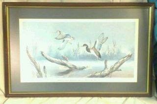 Alabama Ducks Unlimited Sponsors Print of Year 1982 Signed JC MICHELET