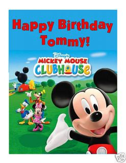 Mickey Mouse Clubhouse Edible Cake Image Cake Topper