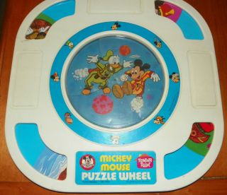 HASBRO ROMPER ROOM WALT DISNEY MICKEY MOUSE PUZZLE WHEEL PAT PEN VHTF