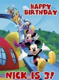 Mickey Mouse clubhouse birthday boy baby one piece bodysuit custom