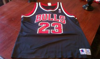 Mint Black Michael Jordan Chicago Bulls Jersey 23 Size 48