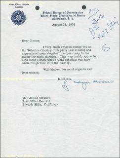 The FBI Story J Edgar Hoover James Stewart and Mervyn Leroy