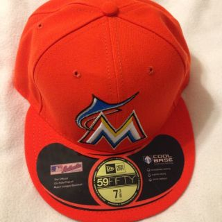 Miami Marlins New Era 59Fifty Baseball Cap Hat Size 7 3 8