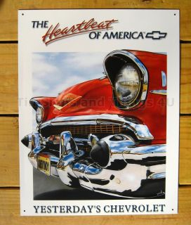 Red Antique Chevrolet Tin Sign Vtg Metal Wall Decor Chevy Car Classic