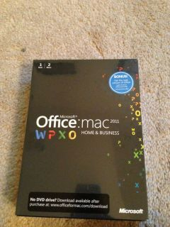 Microsoft Office Mac 2011 Home Business 1 User 2 Installs W9F 00014