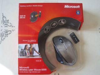 NIB Microsoft Wireless Laser Mouse 6000 QVA 00001