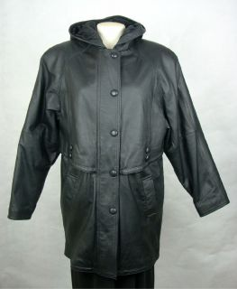 Middlebrook Park Womens Ladies Leather Coat Jacket Size M