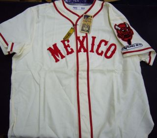 Mexico City Red Devils Baseball Jersey 2XL 100% Wool   Ebbets Field