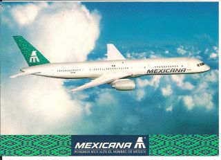 Mexicana Airlines Boeing 757 200 Postcard Airline Issue