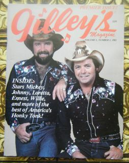 Premier Issue Volume 1 NUMBER1 1981 Mickey Gilley Country Music